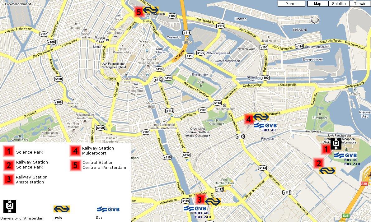 Hotel Arena Amsterdam Maps